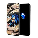 Phone Case Compatible with iPhone X/iPhone Xs Sonic The Hedgehog Comic Series for Adult Men, 5.8 Inch Novelty Soft TPU + PC Bumper Shockproof Full Protective Case