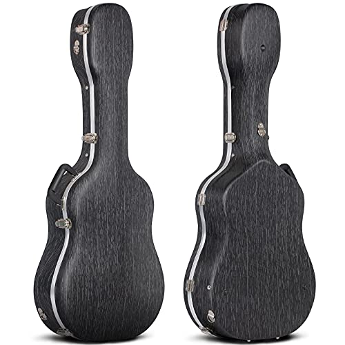 CAHAYA 41 Inch Hard Acoustic Guitar Case ABS Waterproof Guitar Bag 0.6 Inch Thick...