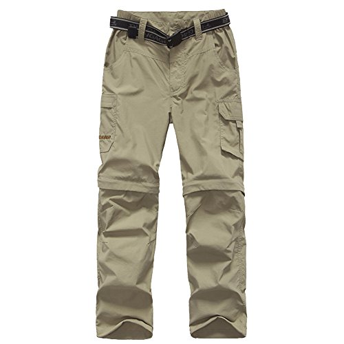 Kids Monolayer Can be Split Super Stretch Quick Drying Outdoor Pants 3301 Khaki X-Large