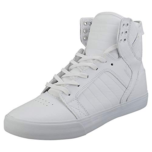 Supra Unisex-Erwachsene SKYTOP High-Top, White Red Wwr, 47.5 EU