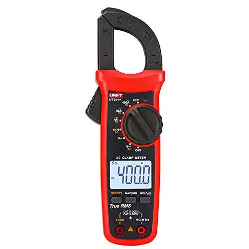 UNI-T UT201+ Digital Clamp Meter 4000 conta Multimetro auto range vero pinza amperometrica RMS misuratore di corrente continua