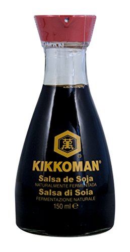 Kikkoman Soja-Sauce - Tischflasche mit Ausgießer, 1er Pack (1 x 150 ml)