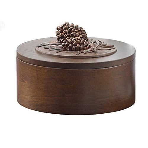 ンリアンに聞-花ラック Women's Jewelry Box Jewelry Organizer Boxes Round Jewelry Box Wood Simple European Style Desktop Finishing Box Decorative Box Ring Earrings Necklace Storage Box 1102