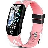 Montre Connectée Cardiofréquencemètre Bracelet Connecté Podomètre GPS Fitness Tracker d'Activité Tension Artérielle...