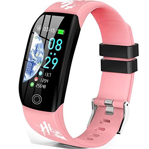 Smartwatch Orologio Fitness Tracker Uomo Donna Bracciale Cardiofrequenzimetro da Polso Impermeabile IP68 Contapassi Smartband Sportivo Braccialetti per Android iPhone Samsung Huawei DUODUOGO Hi5