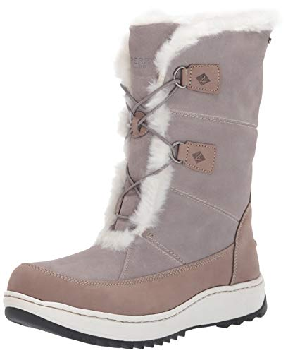 Sperry Women's Powder Valley Snow Boot, Grey, 6.5 M US