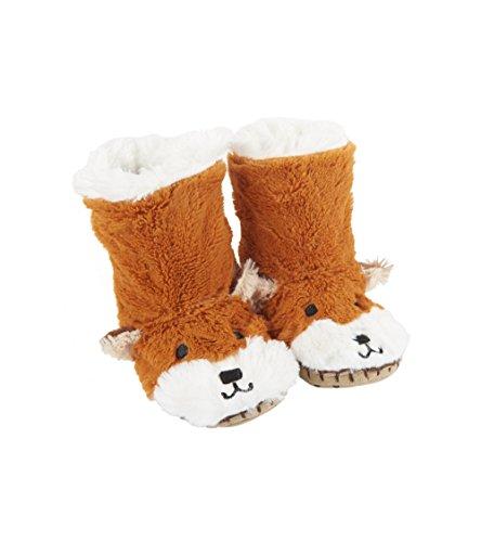 Little Blue House by Hatley unisex child Hi-top Slouch Animal Slipper Sock, Fox, Small 5 - 7 US