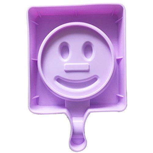 Qearly Mignon Petit Moules Silicone Ice Cream Pop Moules à Crème-Un morceau de sourire
