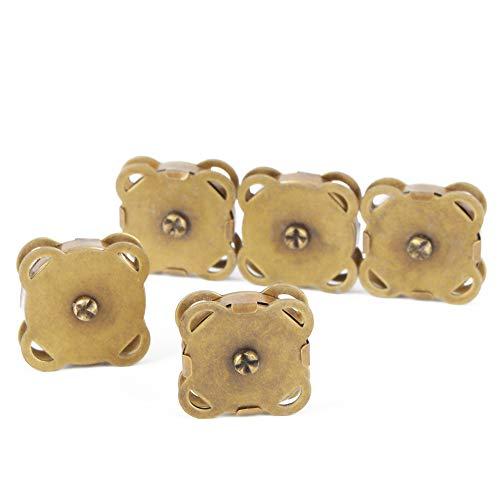 10 unids/set de botones magnéticos de Metal con hebilla magnéticos para manualidades DIY, bolsa de ropa, accesorios para mochila(Bronce)