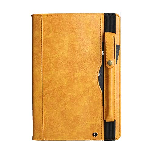 Flip Leather Tablet Case Crazy Horse Texture Horizontal Flip Leather Case, for Galaxy Tab S 5E 10.5 / T720 / T725 (with Double-row Card Slots & Pen Slot) (Color : Yellow)