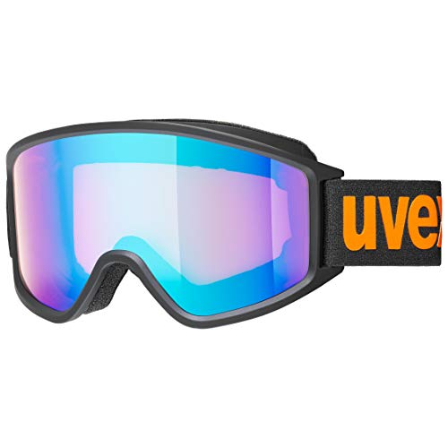 uvex g.gl 3000 CV, lunettes de ski Adulte unisexe, black mat/blue-orange, one size