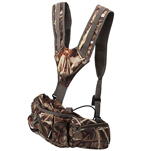 DAUERHAFT Portable Durable Outdoor Waist Pack Backpack Comfortable Lightweight for Hunting,Fishing,Fitness with Five Zipper Front Pockets