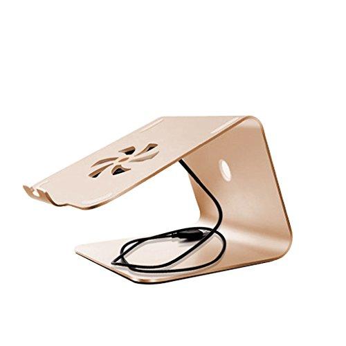 Yxx max -Carrito Verdulero Cocina Soporte Plegable Ajustable del Ordenador portátil, Mesa de Escritorio Negra de la aleación de Aluminio Soporte múltiple Portable del Monitor del Soporte del ángulo