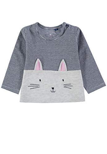TOM TAILOR Mädchen T-Shirts/Tops Sweatshirt mit Katzen-Motiv lunar Rock Melange|beige,80