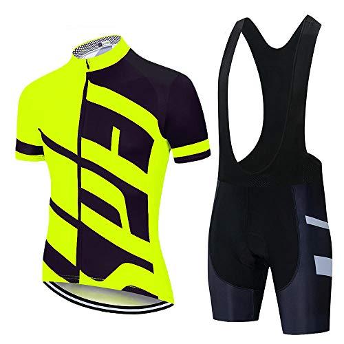 HXTSWGS Conjunto de Jersey de Ciclismo Verano Carretera Mountian Bike Conjunto de Ropa de Ciclismo MTB Bicicleta Ropa Deportiva Traje Ciclismo-A07_XL