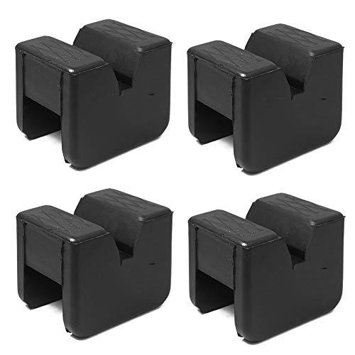 Wagenheber-Pad-Adapter, Gummi, 2–3 Tonnen, universell, geschlitzte Rahmenschiene, zum Anklemmen von Schweißnähten für Wagenheber-Ständer