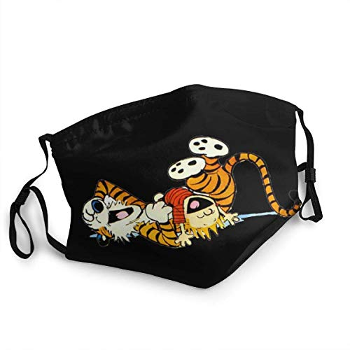 vipsung Calvin and Hobbes (13) Funny Dust Mouth Coverings, Cycling, Out Dust for Teens Men Women Mouth Coverings