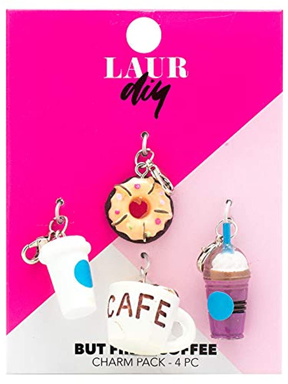 LaurDIY 37600019 First Coffee Charm Pack, Multicolor