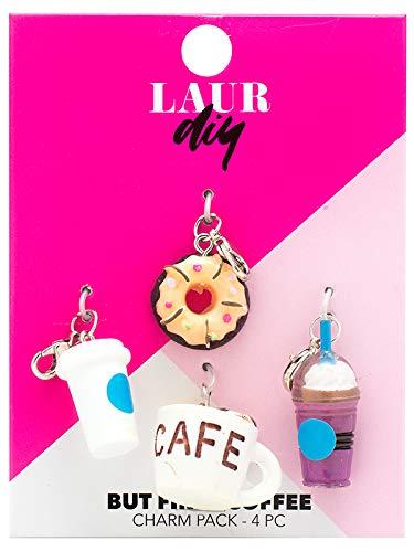 LaurDIY 37600019 First Coffee Charms Pack, Multi