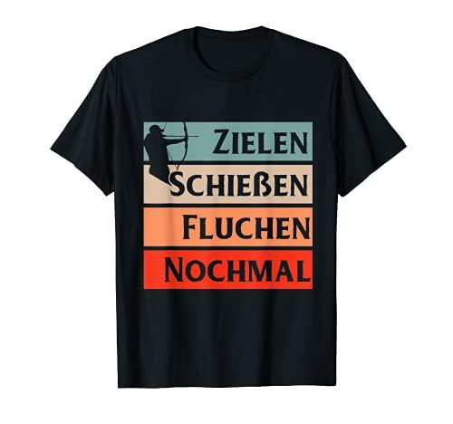 Bogenschießen Geschenk Bogen Pfeil Männer Schützenverein T-Shirt