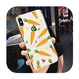 Lindo dibujos animados zanahoria teléfono caso transparente suave para iphone 5 5s 5c se 6 6s 7 8 11 12 plus mini x xs xr pro max-a2-para iphone 6 6s