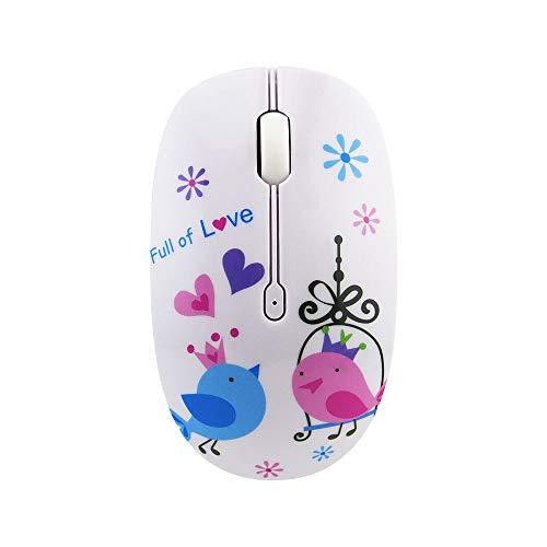 Jackchen muis, draadloos, muis, 2,4 g, comic-wekker voor de muis van het bureau, laptop, voor meisjes op kantoor Vogel