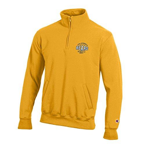 Champion NCAA California Golden Bears Men's All-Around Fleece 1/4 Zip Jacket, X-Large, Gold