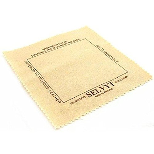 Selvyt Polishing Cloth - for Diamonds, Gemstones, Precious Metals, Crystal, and Silverware Without Scratching