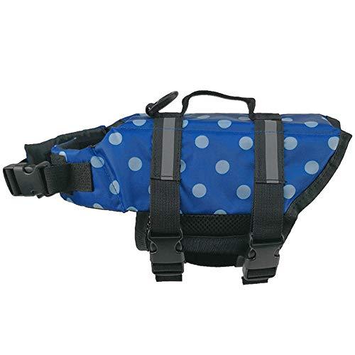 Salvavidas para perros Chaleco salvavidas Salvavidas Chaleco para perros Chaleco salvavidas autoinflable para mascota Azul