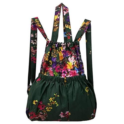 IANSISI Cordón de cordón bolsillo flor tela bolsa de la compra bolsa de gran capacidad impermeable mochila mujer | bolsa de compras |