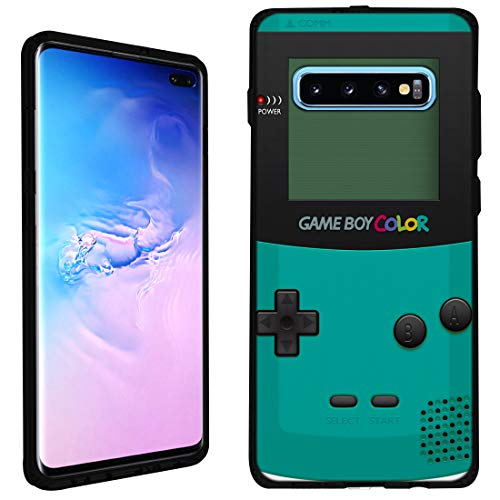 Galaxy S10 Plus Case [Gameboy Mint](Black) PaletteShield Flexible Slim TPU Skin Phone Cover (fit Samsung Galaxy S10 Plus)