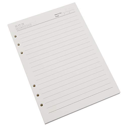 VEESUN A5 6 Löcher Refill Liniert Papier, 6-Ring Binder 120 Blatt / 240 Seiten für A5 Nachfüllbar Tagebuch Notizbuch Journal Einsätze, MEHRWEG
