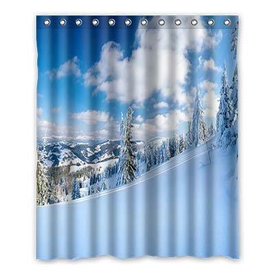 Dalliy Brauch schnee im winter Wasserdicht Polyester Shower Curtain Duschvorhang 152cm x 183cm