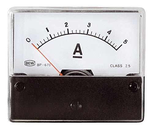 Drehspulinstrument analog Amperemeter 5A Anzeige