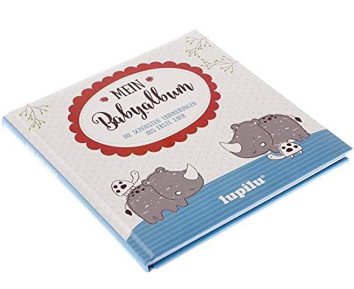 Lupilu Mein Babyalbum - Erinnerungsbuch ans erste Lebensjahr *Blau