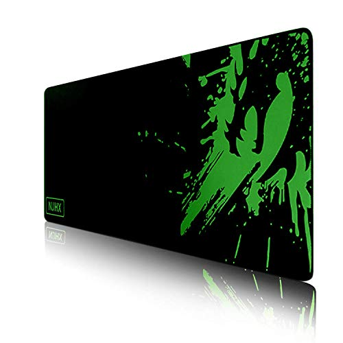 Large Gaming Mouse Pad- Waterproof Extended Mouse Mat with Non-Slip Rubber Base and Stitched Edges