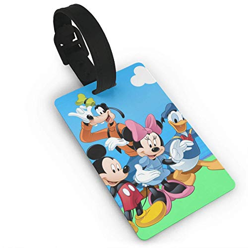 Lage Tags Donald Duck Mouse and Goofy Suitcase Labels Bag Tag Travel ID Identifier Baggage Tag