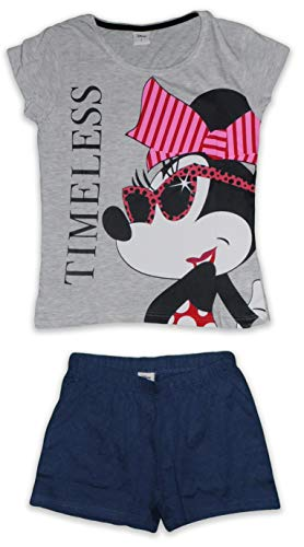 Disney Damen Pyjama-Set aus Baumwolle Gr. Medium, Minnie - Zeitlos