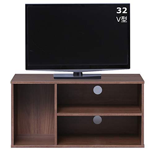 26-32型推奨 アイリスオーヤマ テレビ台 テレビボード ローボード 幅73.2cm 奥行29.8cm 高さ36.3cm 24型 32型 ウォールナットブラウン 収納 カラーボックス オープン 組み立て 耐荷重20kg MDB-3S