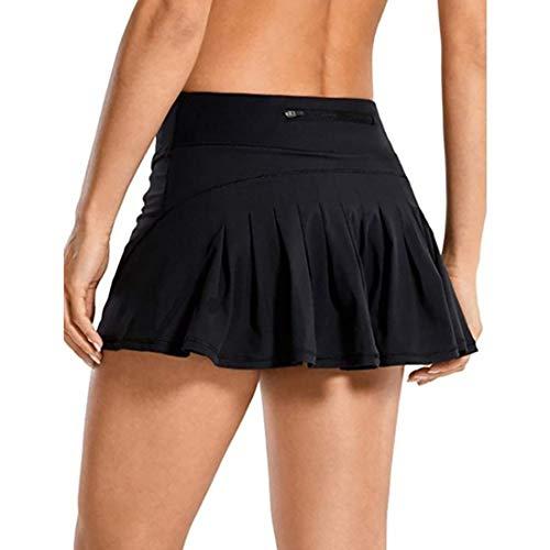 GYUANLAI Faldas Plisadas Atléticas para Mujer Faldas Cortas Deportivas de Tenis y Golf para Mujer con Pantalones Cortos Incorporados en la Cintura Trasera