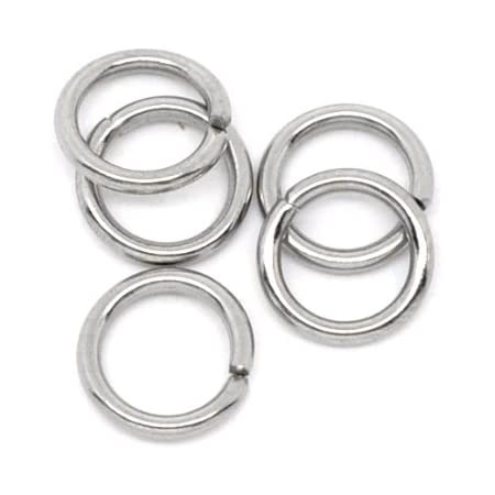 10mm x 1.2mm Valyria 200pcs Stainless Steel Open Jump Rings Connectors Jewelry Findings