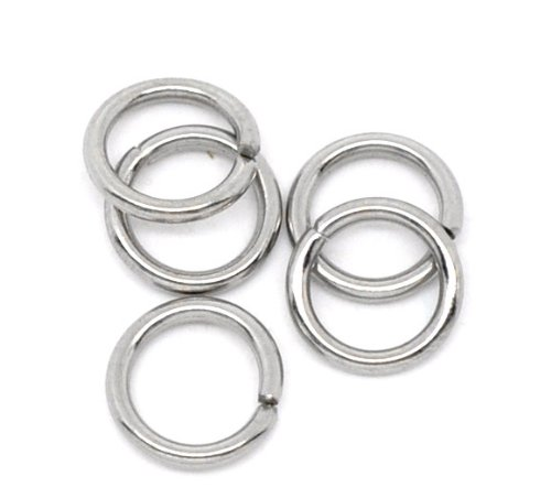 Valyria 500pcs Stainless Steel Open Jump Rings Connectors Jewelry Findings 7mm(1/4)