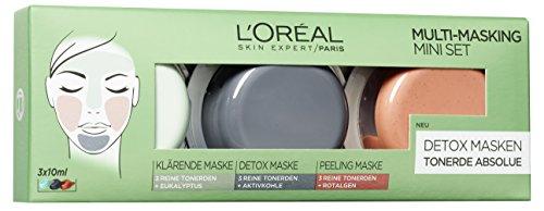 L'Oréal Paris Tonerde Absolue Multi Masking Set, 1er Pack (3 x 10 ml)