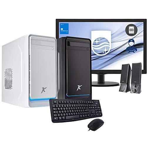 Pc desktop assemblato INTEL Cpu 3.80Ghz,Ssd 500gb,Ram 16gb Ddr4,Scheda video INTEL UHD,Windows 10 Pro,Monitor 24,con accessori,Computer fisso,casa,ufficio,completo