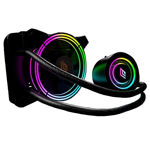 Noua Siberus TR120 ARGB TDP 175W Sistema di Raffreddamento Radiatore 120mm Dissipatore Liquido 1 Ventola RGB Rainbow Addressable 5V 3-Pin ADD RGB per Intel 1200 1150 1151 1155 1366 2066 AMD AM4 AM3