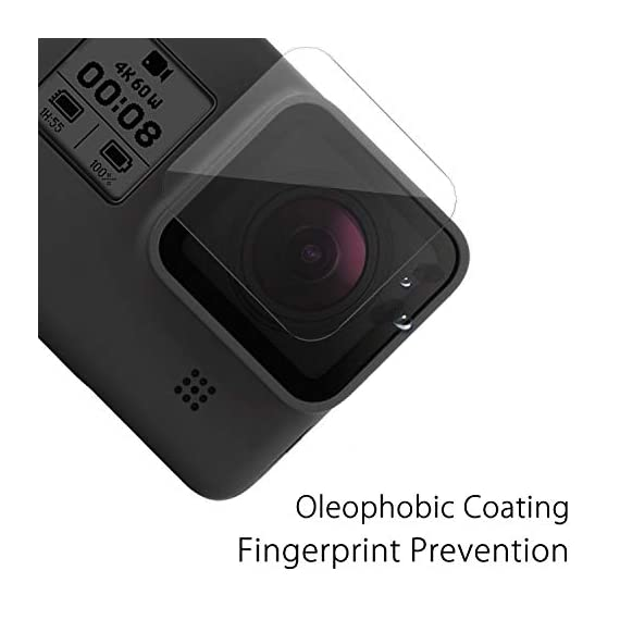 [6 pcs] fitstill screen protector for gopro hero 8 black, ultra clear tempered glass screen protector + tempered glass… 4 【life-time warranty】 life-time warranty from fitstill and 90 days money back guarantee 【secifically design】 compatible with gopro hero8 black action camera only. 【high-transparency】it provides you high-definition clear viewing. Hydrophobic oleophobic screen coating protects your camera screen against sweat and oil residue from fingerprints and keeps high-sensitivity touch response.