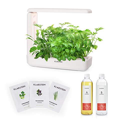KLARSTEIN GrowIt Cuisine Smart Indoor Garden I - Lote huerto hidropónico, 12 plantones, Depósito 2L, Iluminación LED, Paquete de 18 Piezas, Lote de nutrientes con Semillas autóctonas de Asia
