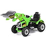 Costzon 12V Battery Powered Kids Ride On Excavator, Electric Truck with High/Low Speed, Moving...