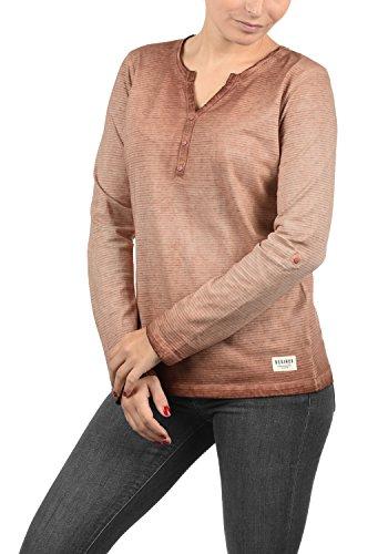 DESIRES Karina Damen Longsleeve Langarmshirt Shirt Mit Rundhalsausschnitt Und Knopfleiste Aus 100% Baumwolle, Größe:M, Farbe:Rose Dawn (4916)