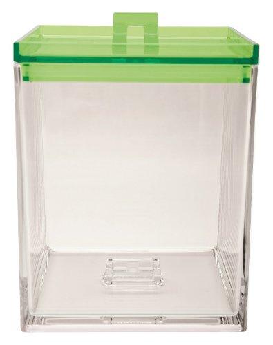 Zak ! Designs Caja APILABLE Transparente/Verde 1,4 L. 0989-0220